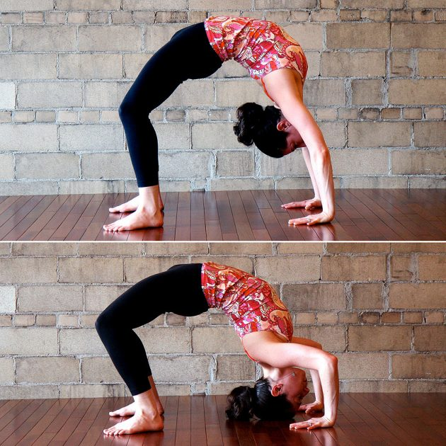 Handstand Backbend-Push-Ups