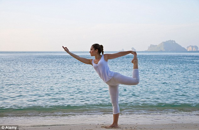 The beauty of yoga is that it can be adapted to various needs and lifestyles (file picture, posed by model)
