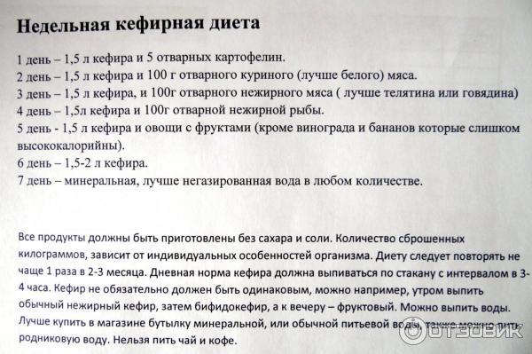 Кефирная Диета На 14 Дней.