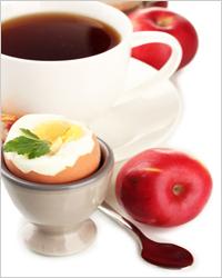 кофе с вареным яйцом