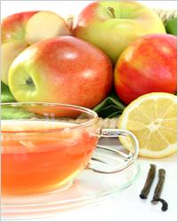 чай с лимоном и яблоками