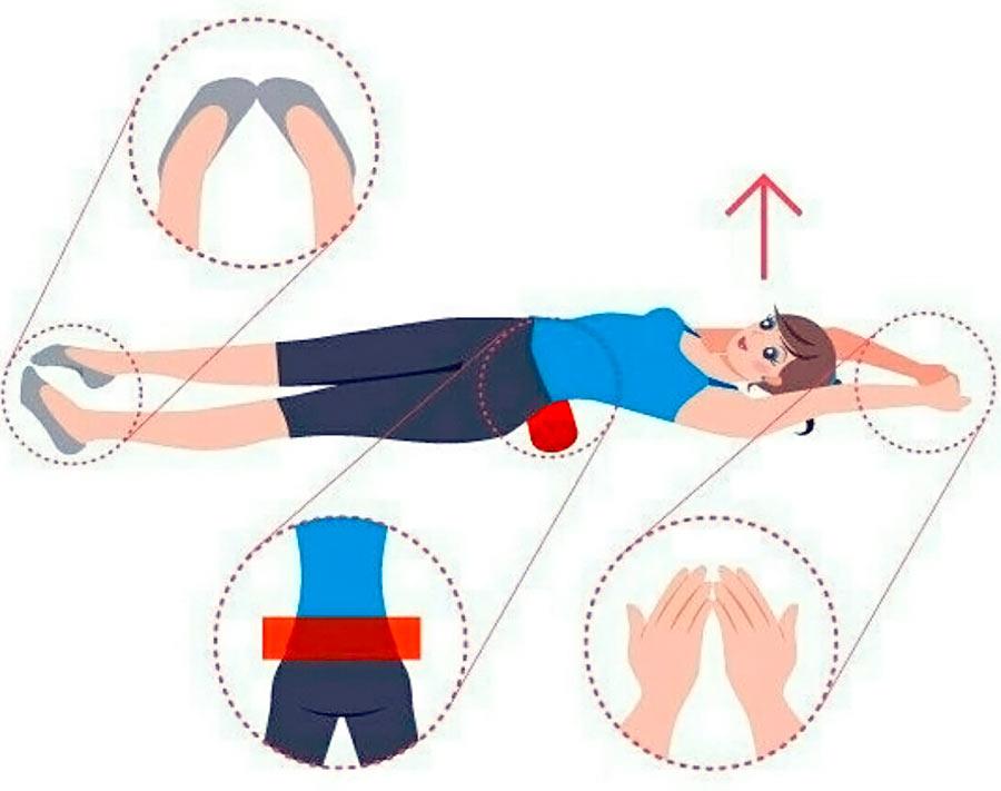 Упражнение с валиком Фукуцудзи для позвоночника